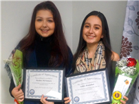 Chamber of Commerce Honors Two Students of the Month