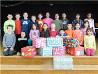 Connetquot Kids Give Back with Birthday Boxes