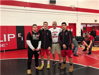 Three Wrestling Redmen Recognized as Finalists at Rocky Gilmore
