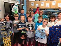 JFK Fourth-Graders Donate a Dozen for Pajama Project