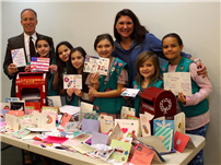 RCK Girl Scouts Send Cards and Cookies to Troops 1