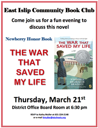 Community Book Club on March 21